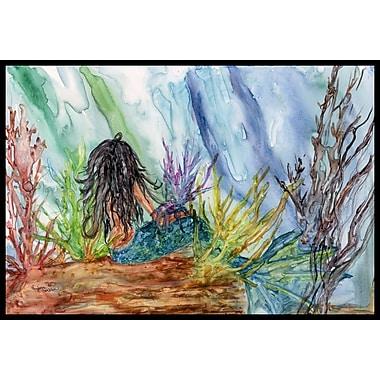 Caroline's Treasures Haired Mermaid Water Fantasy Doormat; 2' x 3'