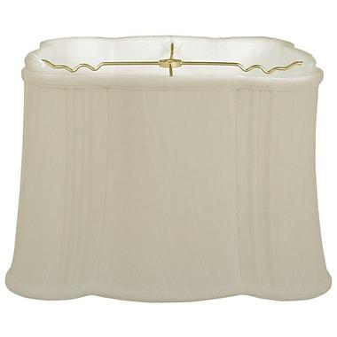 RoyalDesigns Timeless Flare Bottom Scallop 13'' Silk Novelty Lamp Shade; Beige