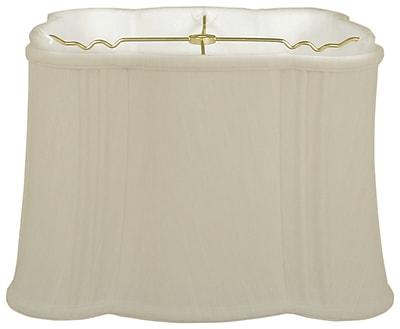 RoyalDesigns Timeless Flare Bottom 17'' Silk Novelty Lamp Shade; Beige