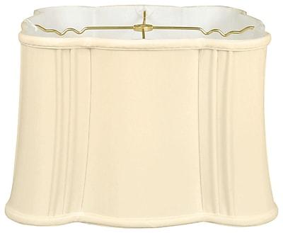 RoyalDesigns Timeless Flare Bottom Scallop 13'' Silk Novelty Lamp Shade; Eggshell