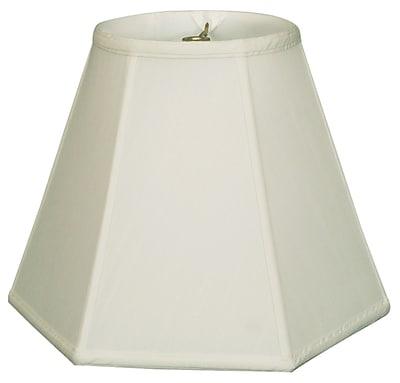 RoyalDesigns Timeless 13'' Silk Empire Lamp Shade; White/Off White