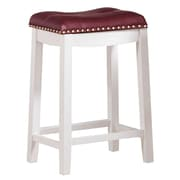 Angel Line Cambridge 24'' Bar Stool; Dark Red