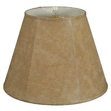 RoyalDesigns Timeless 14'' Faux Leather Empire Lamp Shade
