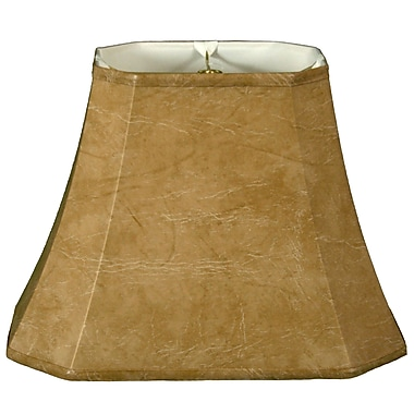 RoyalDesigns Timeless 16'' Faux Leather Bell Lamp Shade