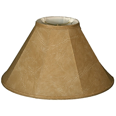 RoyalDesigns Timeless 16'' Faux Leather Empire Lamp Shade