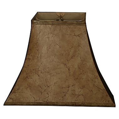 RoyalDesigns Timeless 14'' Faux Leather Bell Lamp Shade