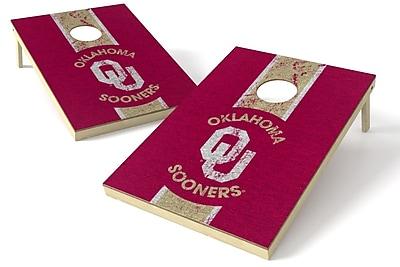 Tailgate Toss NCAA Heritage Cornhole Game Set; Oklahoma Sooners