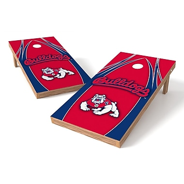 Tailgate Toss NCAA Cornhole Game Set; Fresno State Bulldogs