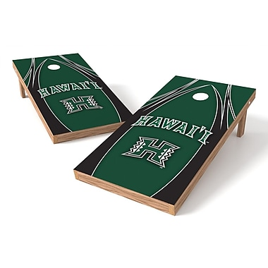 Tailgate Toss NCAA Cornhole Game Set; Hawaii Rainbow Warriors