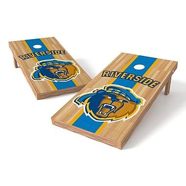 Tailgate Toss NCAA Hardwood Cornhole Game Set; UC Riverside Highlanders