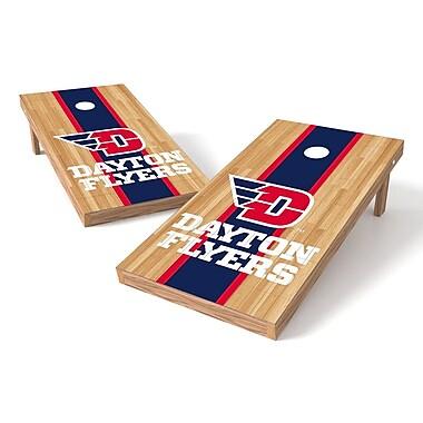 Tailgate Toss NCAA Hardwood Cornhole Game Set; Dayton Flyers