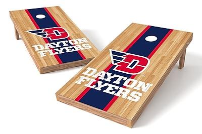 Tailgate Toss NCAA Hardwood Game Cornhole Set; Dayton Flyers