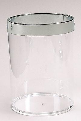 Carnation Home Fashions Acrylic 1.2 Gallon Waste Basket WYF078279026436