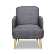 Container Accent Arm Chair; Dark Gray