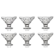 Lorren Home Trends Laurus Round Crystal Bowl (Set of 6)