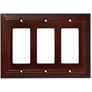 Franklin Brass Classic Architecture Triple Decorator Wall Plate; Espresso