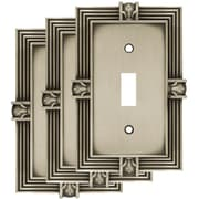 Franklin Brass Pineapple Single Switch Wall Plate (Set of 3); Brushed Satin Pewter