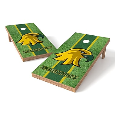Tailgate Toss NCAA Field Cornhole Game Set; Brockport Golden Eagles