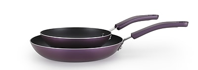 T-fal Color Luxe 2-Piece Non-Stick Frying Pan Set; Amethyst