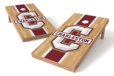 Tailgate Toss NCAA Hardwood Game Cornhole Set; College of Charleston Cougars