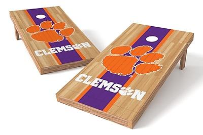 Tailgate Toss NCAA Hardwood Game Cornhole Set; Clemson Tigers