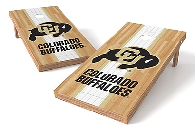 Tailgate Toss NCAA Hardwood Cornhole Game Set; Colorado Buffaloes WYF078278973251