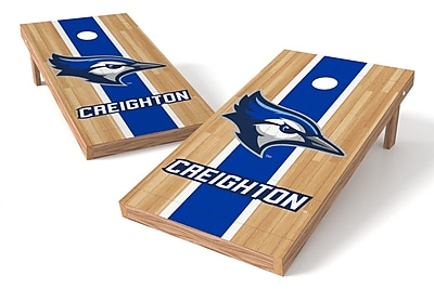 Tailgate Toss NCAA Hardwood Game Cornhole Set; Creighton Bluejays