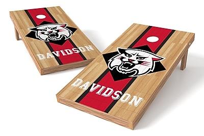 Tailgate Toss NCAA Hardwood Game Cornhole Set; Davidson Wildcats