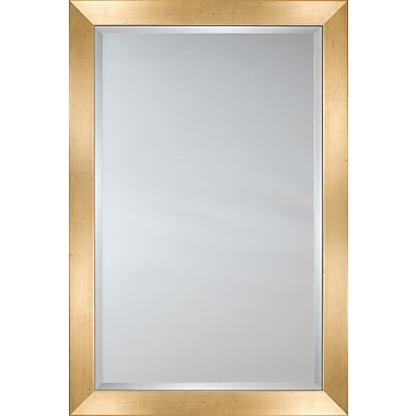 Mirror Image Home Mirror Style 80726 - Gold Face w/ Black Speckles; 33.75 x 43.75