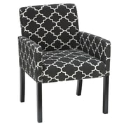 Cortesi Home Tegan Accent Armchair; Black