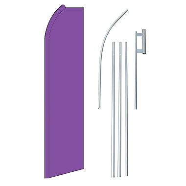 NeoPlex Solid Swooper Flag and Flagpole Set; Purple