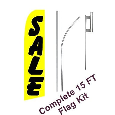 NeoPlex Sale Swooper Flag and Flagpole Set; Yellow