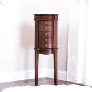 Hives & Honey Meg Jewelry Armoire w/ Mirror; Walnut