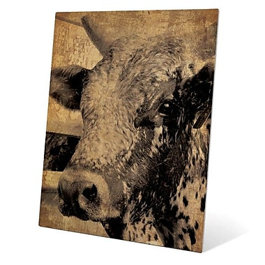 Click Wall Art Cow Graphic Art on Plaque; 20'' H x 16'' W x 0.04'' D