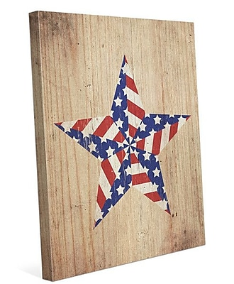 Click Wall Art American Star Graphic Art on Wrapped Canvas; 20'' H x 16'' W x 1.5'' D