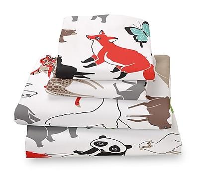 Where the Polka Dots Roam Animal Extra Deep Pocket Sheet Set; Full
