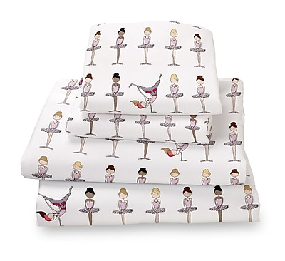 Where the Polka Dots Roam Ballerina / Brake Dancer Extra Deep Pocket Sheet Set; Full