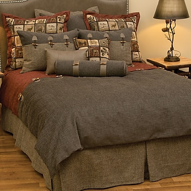 Wooded River Silver Thicket 4 Piece Duvet Cover Set; Super Queen