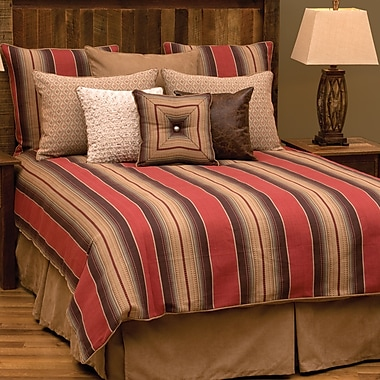 Wooded River Appalachian 7 Piece Duvet Cover Set; Super King