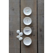 Creative Co-Op Waterside 4 Piece Sea Life Ceramic Platter Set
