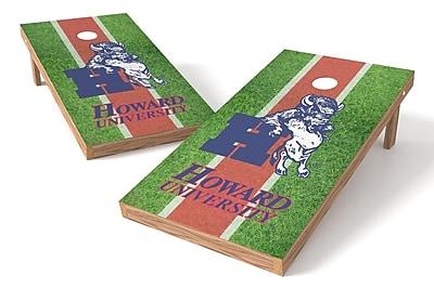 Tailgate Toss NCAA Field Game Cornhole Set; Howard Bison