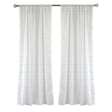 Lite Out Lite Out Curtain Panels (Set of 2); Green