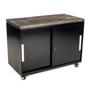 Urban 9-5 2 Door Metal Cabinet; Ebony Stained