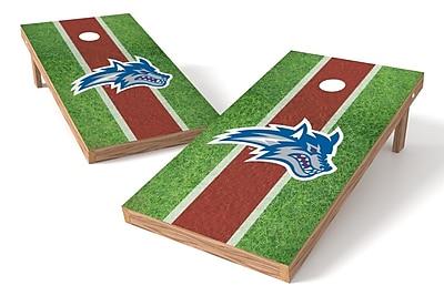 Tailgate Toss NCAA Field Game Cornhole Set; Stony Brook Seawolves