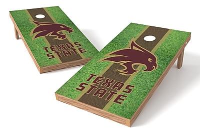 Tailgate Toss NCAA Field Game Cornhole Set; Texas State Bobcats