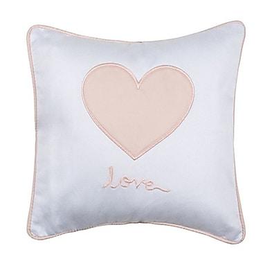 Petite Vigogne Pink Heart Throw Pillow