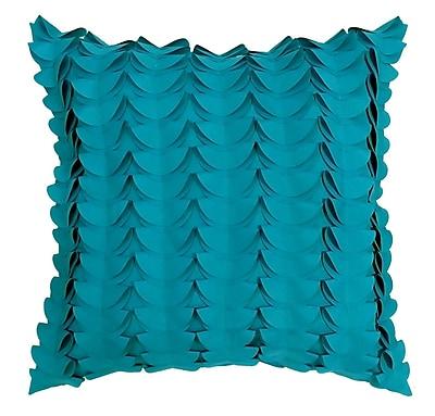 Edie Inc. Half Moon Dimensional Laser Outdoor Throw Pillow; Aqua