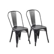 United Chair Industries LLC Side Chair (Set of 2); Antique Black Silver