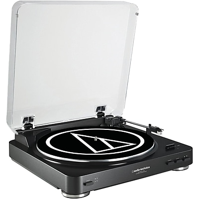 Audio Technica At-Lp60Bk-Usb Fully Automatic Belt-Drive Stereo Turntable (Black)