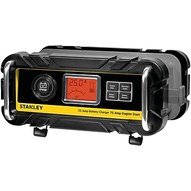 STANLEY® Bc25Bs Battery Charger With Engine Start (25-Amp Charger, 75-Amp Starter)